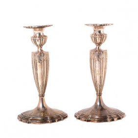 Pair Durgin Sterling Weighted Candlesticks