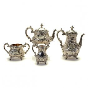 English Victorian Sterling Tea & Coffee Service