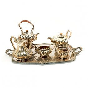 English Sterling Silver Four Piece Tea & Coffee Service