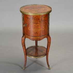 Louis Xv Style Circular Marquetry Chinoiserie Table