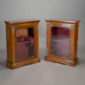 Pair Of Louis Xvi Style Glass Door Vitrine Cabinets