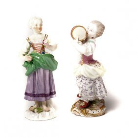 Two Meissen Figures Of Ladies