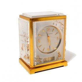 Jaeger Le Coultre Gilt Brass Cased Mantle Clock