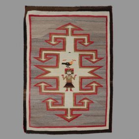 Navajo Rug With Yei Figure