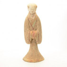 Chinese Pottery Figure Of A Woman, Western Han Dynasty