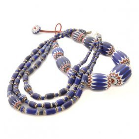 Collection Of Two Venetian Glass Bead, Silver