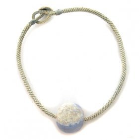 Afghani Blue Lace Agate Necklace.