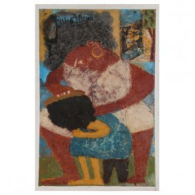Harry Jacques, Haitian Art, Mother And Child