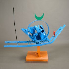 Benbow Bullock Metal Abstract Sculpture.