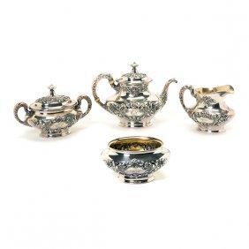 Gorham Sterling Silver Floral RepoussÈ Four Piece Tea