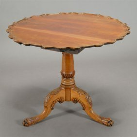 George Iii Mahogany Pie Crust Tea Table