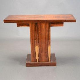 Art Deco Style Pedestal Console Table
