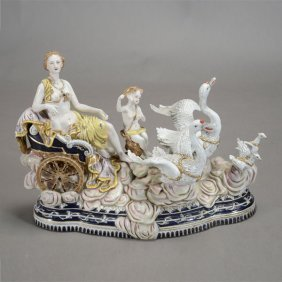Large Sevres Style Porcelain Figural Group