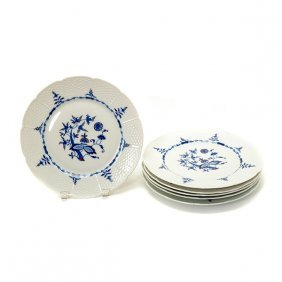 Suite Of Eighteen A. Raynaud Limoges Ceralene Blue &