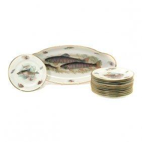 Limoges France Porcelain Fish Service