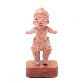 Pre-columbian Pottery Figure Of A Woman,