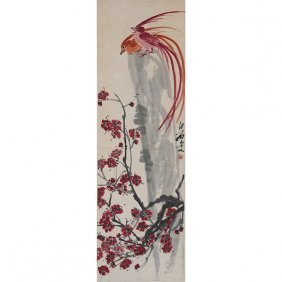 In The Manner Of Qi Baishi (1864-1957): Birds And