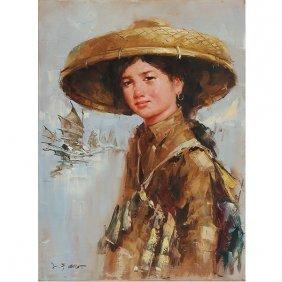 Lee Man Fong (1913-1988): Young Fisherwoman