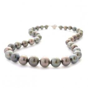 Tahitian Cultured Pearl, Diamond, 18k White Gold