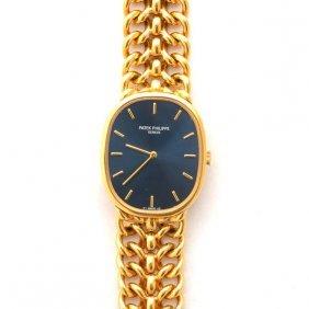 "Patek Philippe ""ellipse"" 18k Yellow Gold Wristwatch."
