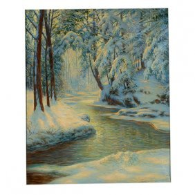 "Walter Launt Palmer ""winter Landscape With Stream"""