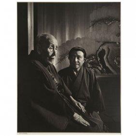 Yousuf Karsh Roppeita Kita & Grandson, Silver Gelatin