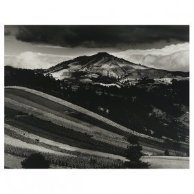 "Brett Weston ""guatemala Hills"" Silver Gelatin Print."