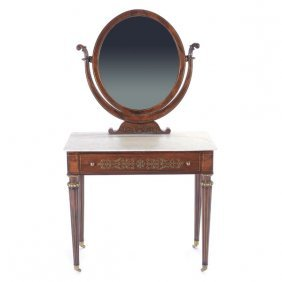 Charles X Gilt Bronze Mounted Rosewood And Mahogany