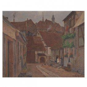"Adolf Luntz ""village Neighborhood"" O/c"