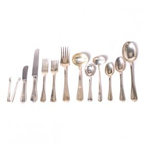 Tiffany Flemish Sterling Silver Flatware Service