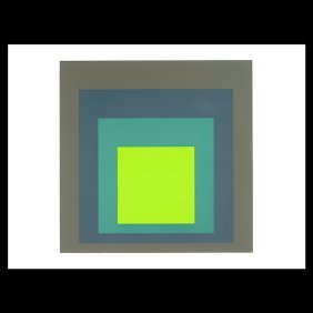 "Josef Albers ""i-s K Homage To The Square"" Lithograph."
