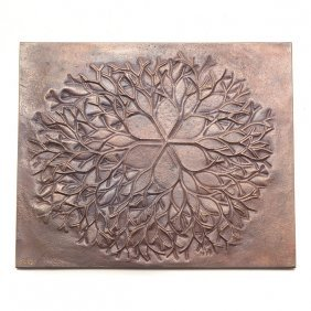 "Ruth Lanier Asawa ""bronze Plaque"" Bas-relief."
