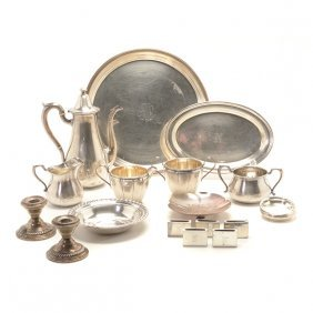 Dominick & Haff Sterling Coffee Service And Group Of