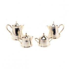 900 Standard Silver Four Piece Tea & Coffee Service