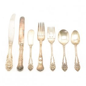 Wallace Sterling Silver Flatware Service And A Partial