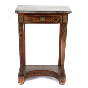 Empire Style Marble Console Table