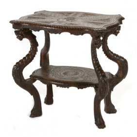 Renaissance Revival Walnut Server Table