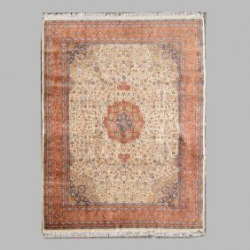 Indo-tabriz Carpet: 9 Feet 4 Inches X 12 Feet 1 Inch