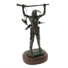 Bob Scriver, War Prize, Bronze Figure Of An Indian