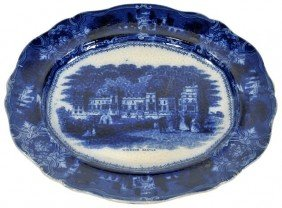 An English Flow Blue Platter,