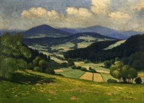 A. Augusta (19th/20th Century) Landscape, Oil On Bo