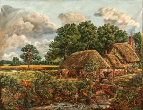 Artist Unknown (19th/20th Century) Landscape With C