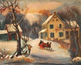 Attributed To Sali Herman (1893-1993) Winter Scene,