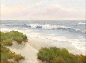L. Reynolds (20th Century) Beach Scene, Oil On Canv