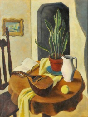 Edmund Brucker (1912-1999) Still Life, Oil On Canva
