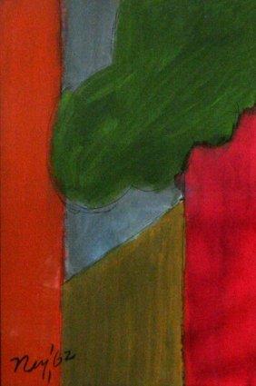 Lloyd Raymond Ney (1893-1965) Mon-Objective, Waterc