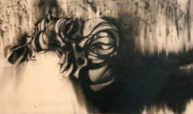 Artist Unknown (20th Century) Untitled, Charcoal On