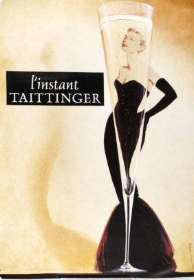 A Reproduction L'Instant Taittinger Champagne Poste