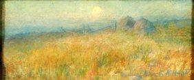 E. K. Hunt (20th Century) Landscape, Pastel On Pape