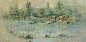 Jose Salazar (1926-2006) Landscape, Oil On Canvas,